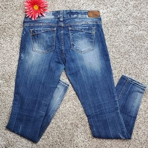 Express Distressed Jeans, Sz 8